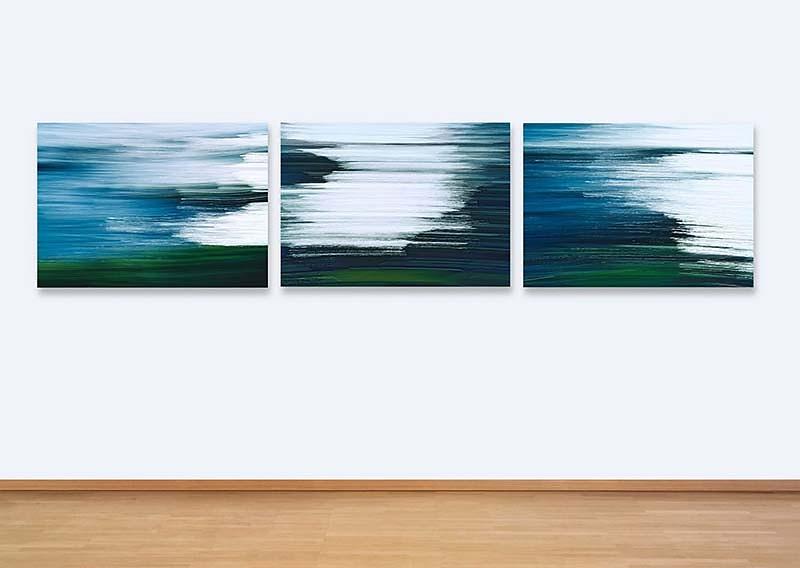 Werkreihe ATLANTIK III . 03 05 . Triptychon