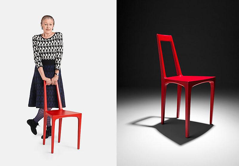 Die Designerin Heidemarie Leitner mit CAREGA - LÖFFLER GmbH, Reichenschwand