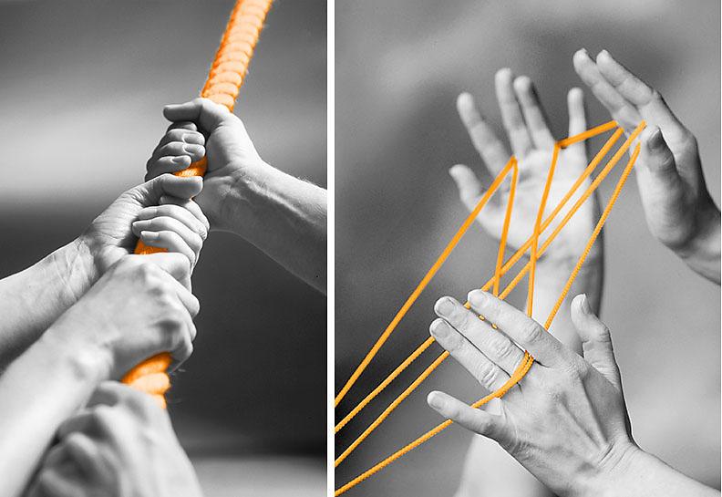 Netzwerk An einem Strang ziehen Werbefotografie Nürnberg Produktfotografie