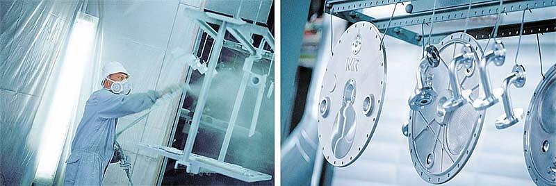Industriefotografie in der Lackierkabine von MR REINHAUSEN