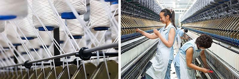 Industriefotografie Wollspinnerei Zhangjiagang, Shanghai - SÜDWOLLE GROUP
