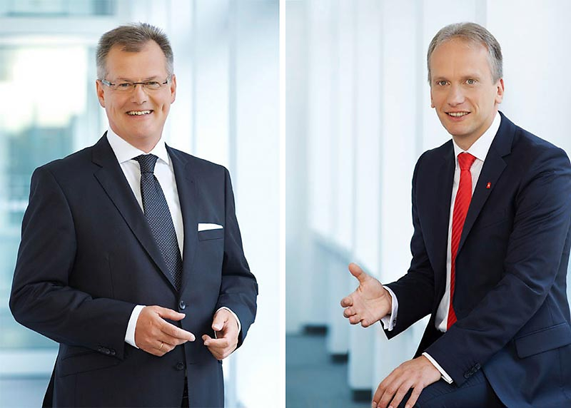 Roland Burgis und Dr. Jonathan Daniel - Vorstände SPARKASSE NÜRNBERG