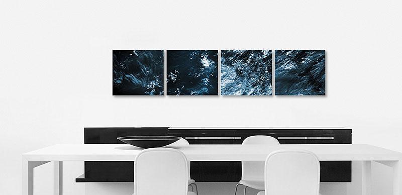 """Fotokunst aus der Werkreihe """"BLACK WATER"""" - Kunst im Unternehmen für Mobilia Wohnbedarf in Nürnberg"""