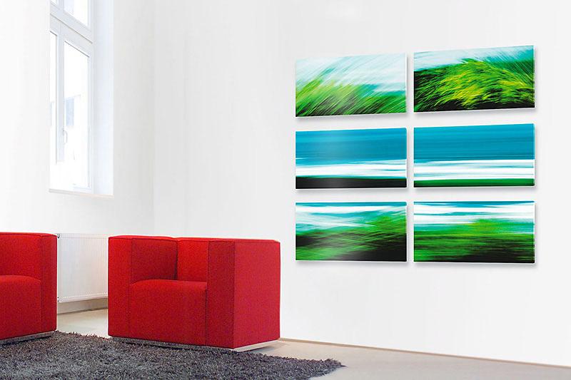 """Fotokunst aus der Werkreihe """"ATLANTIK III"""" - Kunst im Unternehmen für Mobilia Wohnbedarf in Nürnberg"""