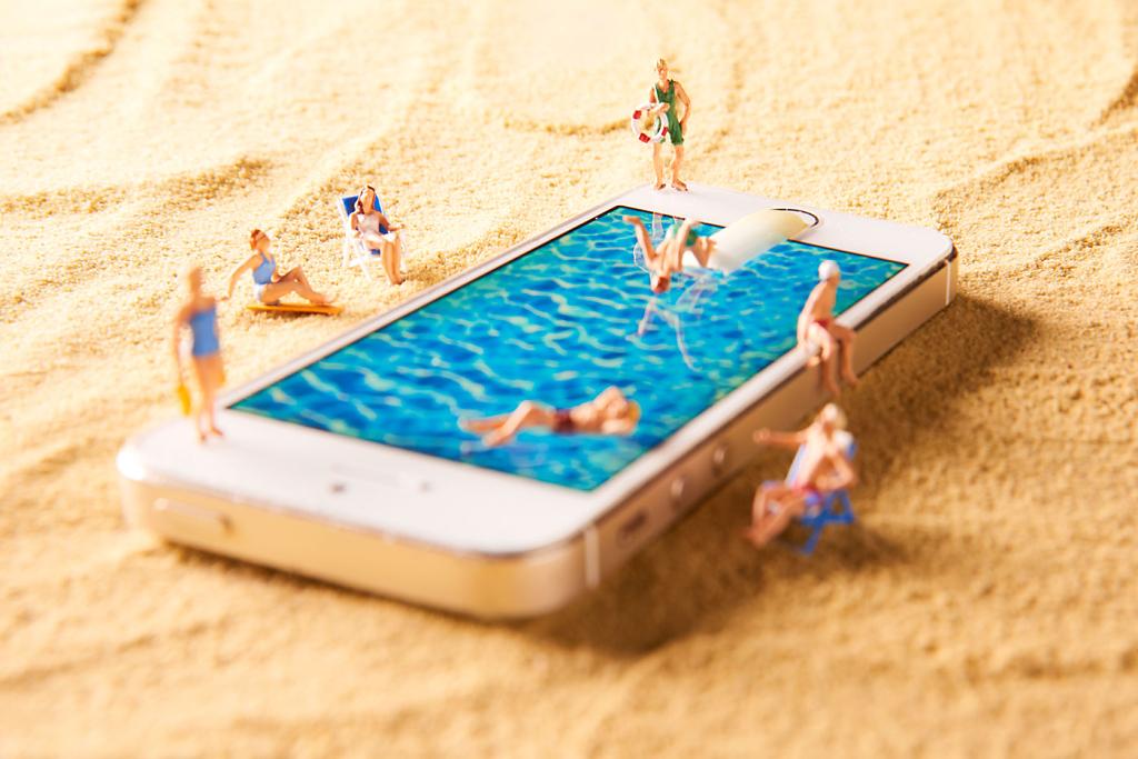 Urlaub Sonne Strand Smartphone