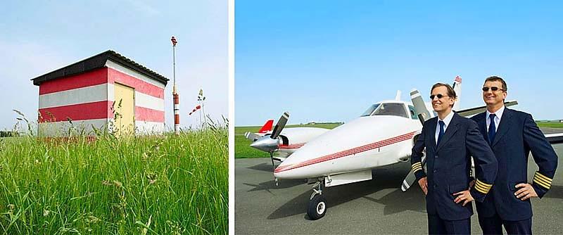 Imageaufnahmen des Flughafen Bayreuth für den Geschäftsbericht der VR BANK BAYREUTH