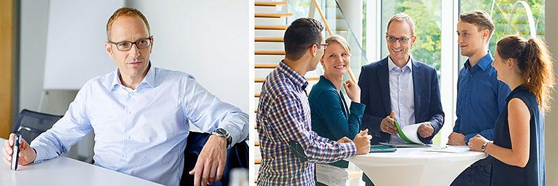 Christian Rödl im Gespräch mit Studenten