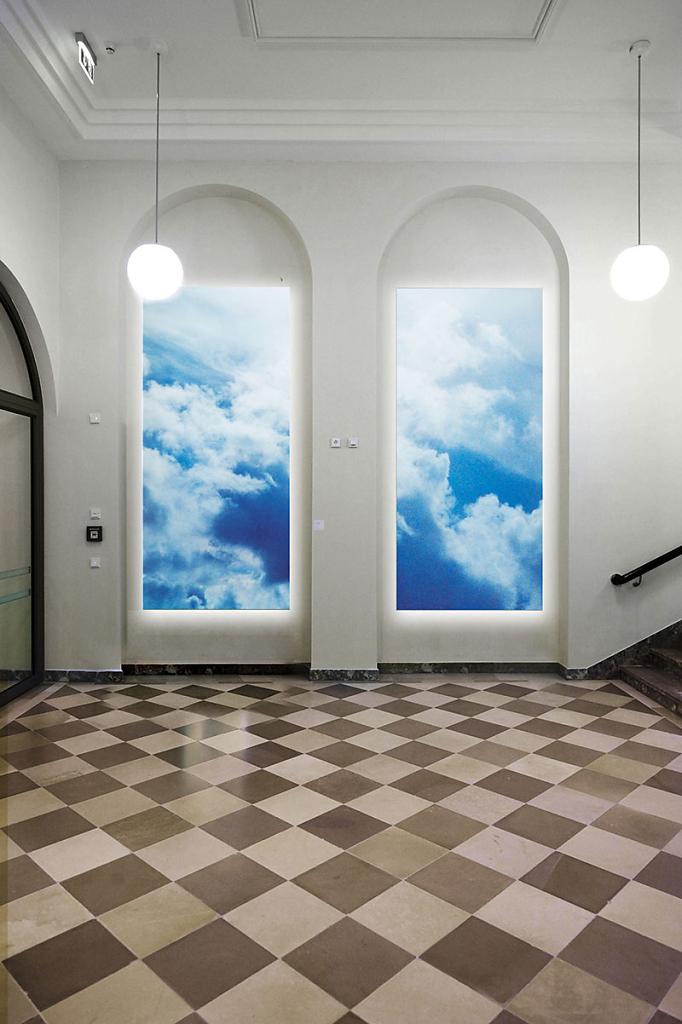 """Entwurf für Lichtobjekte aus der Serie """"SKY"""" für das Priesterseminar Bamberg"""